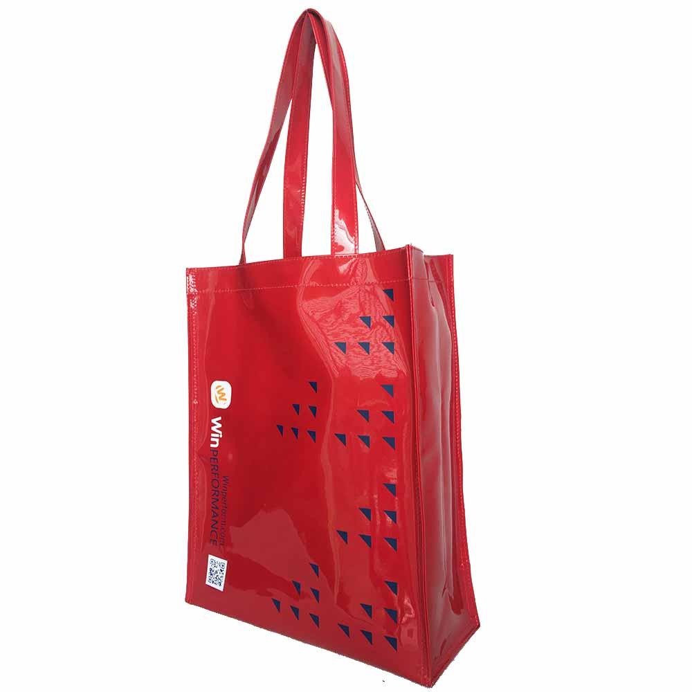 กระเป๋าหนัง PVC หนังแก้ว